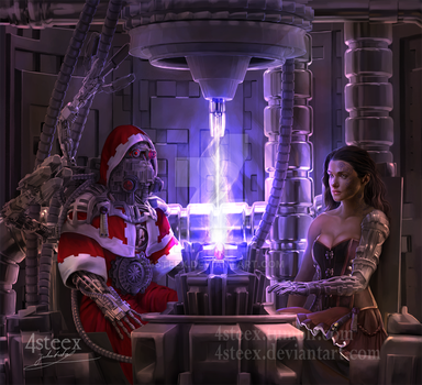 commission: Tech priest and Sierra by 4steex