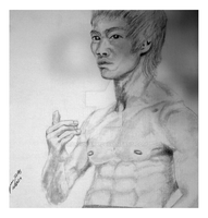 Bruce Lee Sketch by ManHoPark