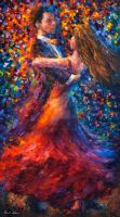 Justify My Love by Leonid Afremov by Leonidafremov