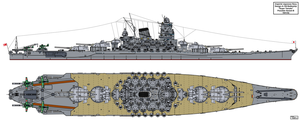 A-150 Super Yamato class possible variant B by Tzoli