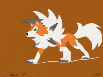 Lycanroc Dusk Form Speed Paint by Alphawolf1220