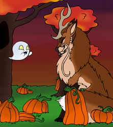 Vixie's Spooktacular Pumpkin Patch Stroll by Werewoofwoof