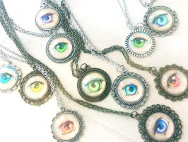 Lovers Eye Necklaces by camilladerrico
