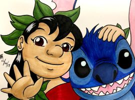 Lilo and Stitch Commission by mayorlight