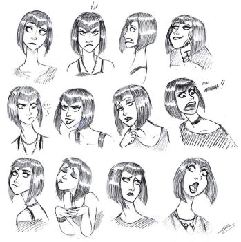 GOTH GIRL SKETCHES by GrievousGeneral