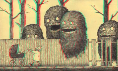 Sticky Monsters 3-D conversion by MVRamsey