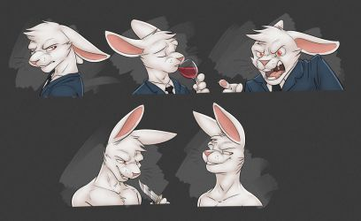 Commission: Judas's Expression Sheet by Temiree