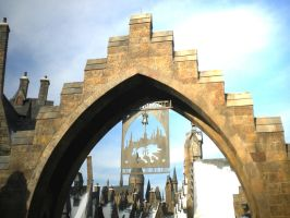 Entrance to Hogsmeade by october-automatic