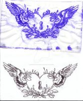Heart Tattoo transfer draw up by Inky-the-obvious