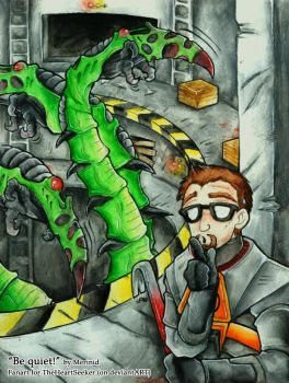 Be quiet - Half Life by Merinid-DE