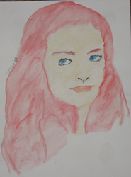 Water Color- Red Head by Spontaniouse