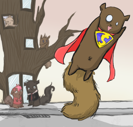 Super Squirrel by Sparrow-Heart