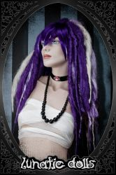 custom wig work: puffy Dreads by LunaticDolls