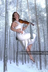Winter Aerial Violinist by Distorted-Lenns
