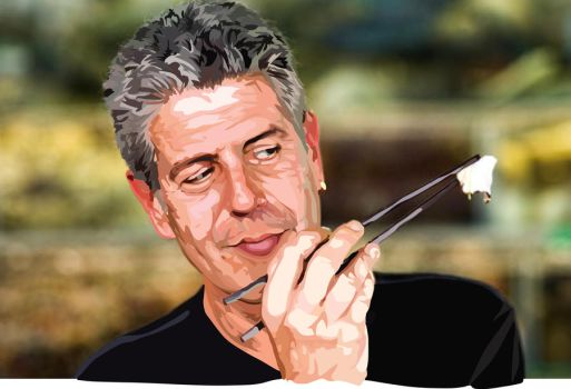 Anthony Bourdain by DoOp