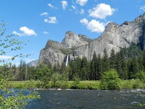 The Three Brothers and BridalVeil Falls, Yosemite  by artamusica