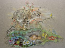 Bobcat and the Woodland Fairies by M-J-Albert