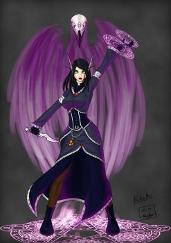 Blood elf : Hekathi and the Shadow crow by Nemhainn