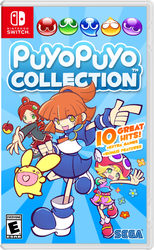Puyo Puyo Collection Box Cover Art (Switch Ver.) by MamonStar761