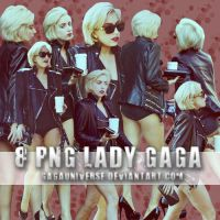 LADY GAGA PNG PACK 15 by gagauniverse
