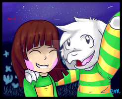 'Come on, Chara! Let's take a Selfie!' by CrystalMyu