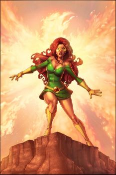 Jean Grey Cover Colored by JamieFayX