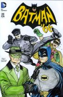 Batman and Greenhornet 1966 sketch cover by mdavidct