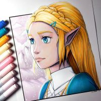 Princess Zelda - Breath of the Wild - Drawing by LethalChris
