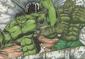 Hulk Vs. Abomination by William-Kunkle