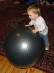 Little Girl with a Big Ball by ViraMors