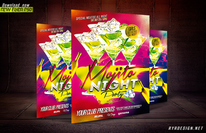 Mojito Night Party PSD Flyer Template by ryrdesign