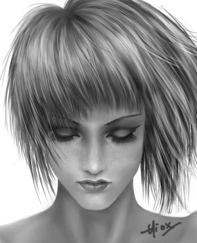 Girl_Face Close-Up by Hiox