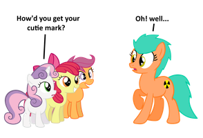 CMC and Gamma-Your Cutie Mark by EmoshyVinyl