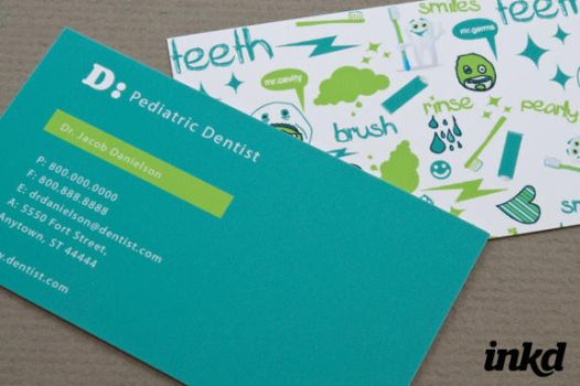 dentistry business cards