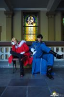 Edward Elric and Roy Mustang by tiagodiemer