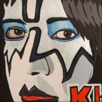 Ace Frehley Painting 1 of 4 by obsessiveone1