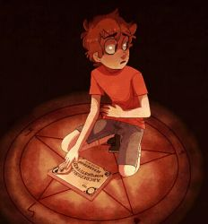 Dipper trying to summon demons or some shit idk by AnInnocentDemon