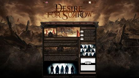 DESIRE FOR SORROW webdesign by isisdesignstudio