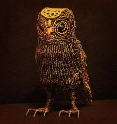 Wire Owl by idwireartworks