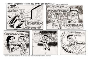 Teddys day of golf page 1 by artlinerscum