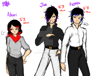OC Ref - Sasaki Siblings' Height by Lunashygaby