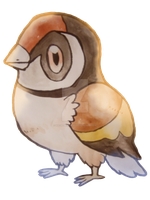 Fakemon European Goldfinch by NachtBeirmann