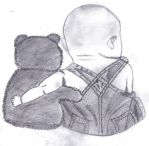 Baby and his Teddy by agnese9