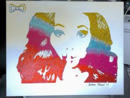 Jade Thirlwall Little Mix Glitter Painting by sphili