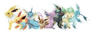 Paint Drip Eevee Collection by ImpersonatingPanda