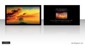 Jan Kasparec - visual artist -business card 3 by R1Design