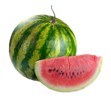 Watermelon on isolated background. by PRUSSIAART