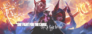 League of Legends / Xayah and Rakan by gwannah