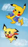 Skydiving Pikabros by Blazeato