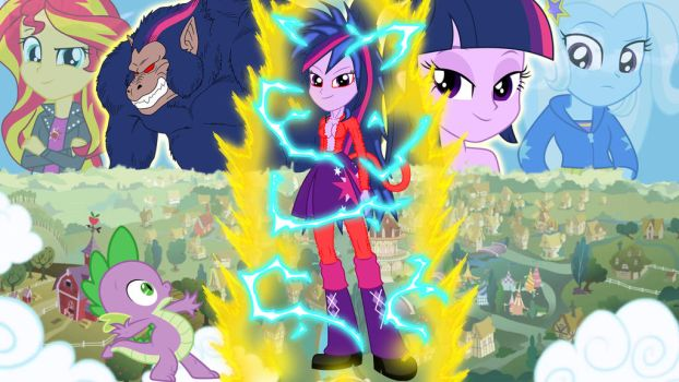 Twilight Ohzaru y Twilight Supersaiyajin 4 by gonzalossj3